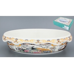 Купить Блюдо-шубница Elan Gallery «Павлин на золоте» 503600