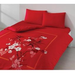 фото Комплект постельного белья TAC Lidia. 1,5-спальный. Цвет: красный