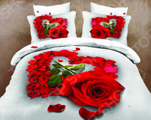 Комплект постельного белья Mango «Романтика». ЕвроЕвро<br>Выбор постельного белья дело ответственное, ведь от его качества зависит то, насколько комфортно вы будете чувствовать себя. Не стоит отвлекаться на яркий и красочный дизайн, главное состав ткани! Постельное белье из синтетических волокон хоть более долговечно и очень красивое, но совсем не пропускает воздух и не отводит влагу. Поэтому, если вы не хотите просыпаться каждый раз в поту такое постельное белье стоит оставить для особых случаев. Однако не стоит увлекаться и изделиями из жестких натуральных тканей. Так, постельное белье с добавлением льна выглядит достаточно привлекательно и аутентично, но может доставить вашей чувствительной коже некоторый дискомфорт. Выбирайте мягкие натуральные ткани, которые будут приятны к телу! Идеальный компромисс комфорта и изысканности! Комплект постельного белья Mango Романтика удивительное постельное белье, которое удивит даже самых взыскательных покупателей. Его уникальность заключается в материале, из которого он выполнено. Ткань из лучших волокон натурального происхождения отличается своей прочностью и высокой стойкостью к бытовому истиранию. Такое постельное белье легко выдержит многократные стирки, сохраняя при этом свою первоначальную форму. При правильном уходе на простыне не будут появляться катышки, которые делают постельное белье не привлекательным и очень неудобным. Материал сатин 3D можно назвать новинкой в мире текстильной моды, ведь он отличается не только своей функциональностью и практичностью, но и оригинальностью!  Почему стоит выбрать именно этот комплект для вашего дома  Натуральные хлопковые волокна являются неблагоприятной средой для размножения пылевых клещей и грибков.  Плотная и приятная на ощупь ткань не мнется и не деформируется, не электризуется.  Натуральный материал отлично впитывает влагу и прекрасно пропускает воздух, что обеспечивает оптимальный для вашего тела микроклимат.  Экологически безопасен, так как при производстве используются то