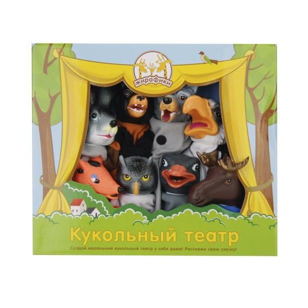 фото Набор для кукольного театра Жирафики «Дикие животные и птицы»