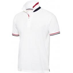 фото Рубашка-поло Clique «Ньютон». Цвет: белый. Размер одежды: L