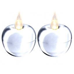 фото Набор из 2-х свечей Star Trading Mini «Яблоко». Цвет: серебристый