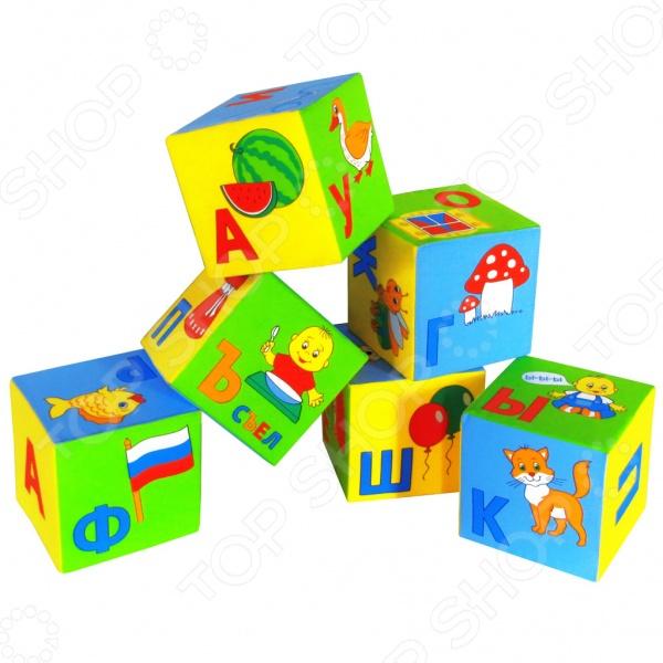 Кубики обучающие мягкие Мякиши «Азбука в картинках» Кубики обучающие мягкие Мякиши «Азбука в картинках» /