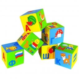 фото Кубики обучающие мягкие Мякиши «Азбука в картинках»