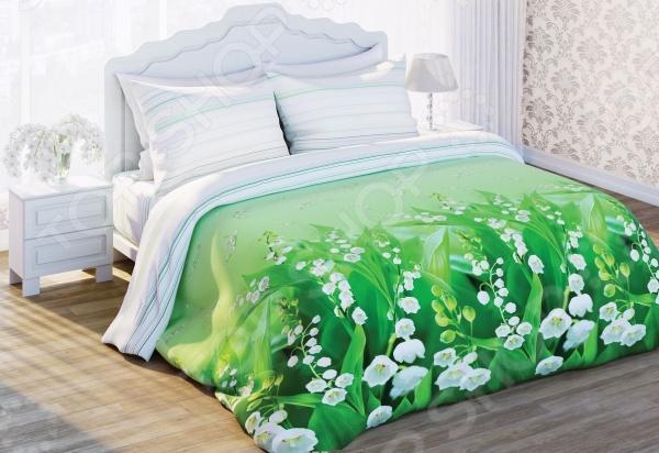 Комплект постельного белья Любимый дом «Ландыши». 1,5-спальный