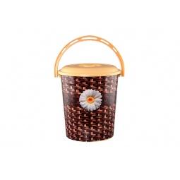 Купить Ведро с крышкой Violet 0212СК «Плетенка»
