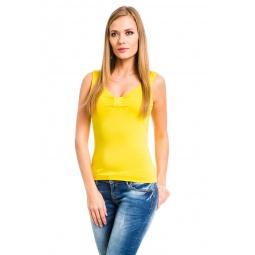 фото Майка Mondigo 387. Цвет: желтый. Размер одежды: 42