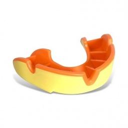 фото Капа одночелюстная подростковая OPRO Junior. Цвет: желтый, оранжевый