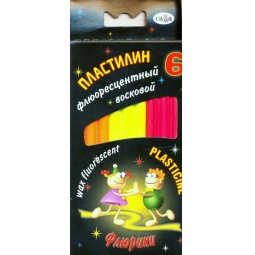 фото Набор пластилина флуоресцентного Гамма «Флюрики»: 6 цветов
