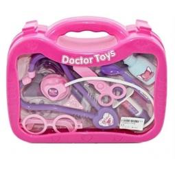 фото Игровой набор для ребенка Shantou Gepai «Набор доктора в чемоданчике». Цвет: сиреневый, розовый