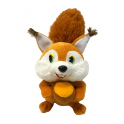 фото Мягкая игрушка со звуком Maxiplay «Белка с орешком»