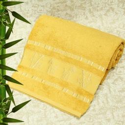 фото Полотенце махровое Mariposa Tropics mustard. Размер полотенца: 100х150 см