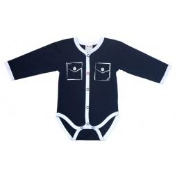 фото Боди для новорожденных с карманами Ёмаё 24-314. Цвет: синий. Размер: 52