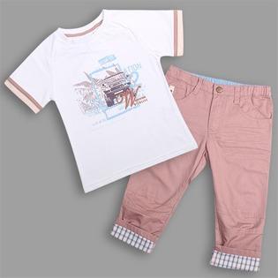 Купить Комплект: футболка и брюки WWW Your freedom. Цвет: белый