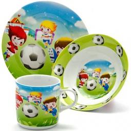 фото Набор посуды для детей Loraine «Футбол» LR-24022