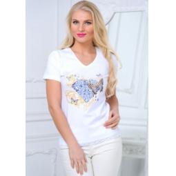 фото Футболка женская BeGood SS15-UER-LTS-889. Цвет: белый. Размер одежды: 52