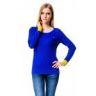 Фото Свитер Mondigo 10022. Цвет: синий с желтыми манжетами. Размер одежды: 46