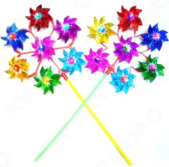 Игрушка-вертушка Shantou Gepai голографическая объемная «Цветы». В ассортименте