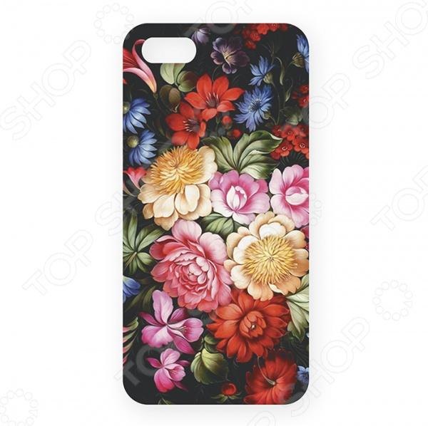 Чехол для iPhone 5 Mitya Veselkov «Жостовский узор-1» цена