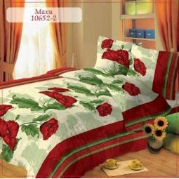 фото Комплект постельного белья Комфорт «Маки». 1,5-спальный