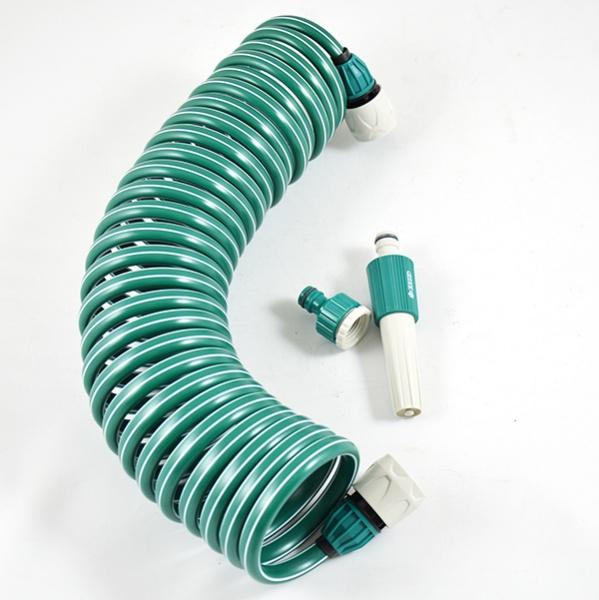 Шланг спиральный для полива Raco 4270-55895 коннекторы для шланга truper быстрозащелкивающиеся 3 4 2 шт