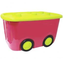 фото Ящик для игрушек IDEA М 2598. Цвет: малиновый