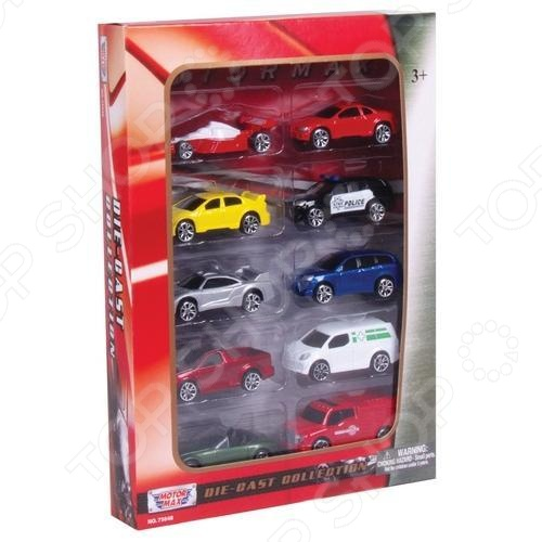 Набор машинок Motormax 75648 motormax motormax грузовик для перевозки автомобилей с 3 машинками