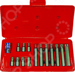 Набор бит Stels 11315Наборы бит и насадок<br>Набор бит Stels 11315 комплект из предметов для монтажа крепежных элементов, резьбовых соединений, шурупов, саморезо. Биты изготовлены из хромованадиевой стали, что обеспечивает дополнительную надежность. Есть встроенный магнитный адаптер. Набор бит предназначен для работы с крепежом с профилем TORX  Биты 30 мм: Т20, 25, 30, 40, 45, 50, 55.  Биты 75 мм: Т20, 25, 30, 40, 45, 50, 55.<br>