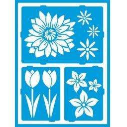 фото Трафарет декоративный для стекла и других поверхностей DecoArt Americana Цветение