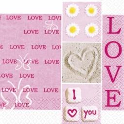 Купить Салфетки бумажные для декупажа Rayher «Я тебя люблю»