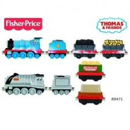 фото Набор игровой для мальчиков Mattel Паровозик и 3 вагончика «Томас и друзья» новые истории. В ассортименте