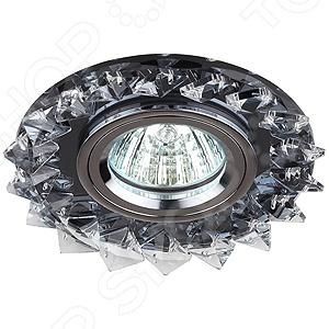 Светильник светодиодный встраиваемый Эра DK44 BK/WH/CH эра dk 55 ch wh