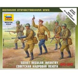 фото Сборная модель Звезда Советская кадровая пехота 1941-1942 годов