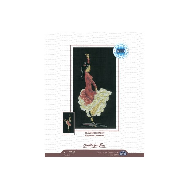 фото Набор для вышивания RTO «Танцовщица фламенко»