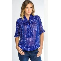 Купить Блузка для беременных Nuova Vita 1318.01. Цвет: индиго