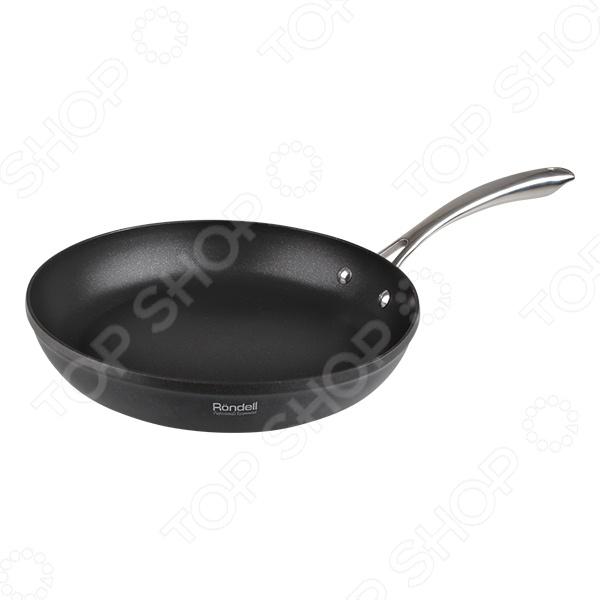 Сковорода Rondell GrandisСковороды<br>Сковорода Rondell Grandis подойдет для приготовления широкого спектра блюд: жарки, тушения и пассеровки различных ингредиентов. Равномерное распределение тепла способствует ускорению процесса приготовления блюд, сохраняя при этом большое количество полезных веществ и витаминов. Сковорода изготовлена из алюминия с высококачественным антипригарным покрытием из титана. Преимущества Rondell Grandis:  подходит для всех видов плит, кроме индукционных;  разрешено использовать в духовке;  можно мыть в посудомоечной машине.<br>