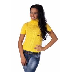 фото Свитер вязаный Mondigo 9004. Цвет: желтый. Размер одежды: 46