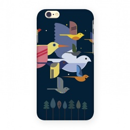 фото Чехол для iPhone 6 Mitya Veselkov «Птицы». Цвет: темно-синий