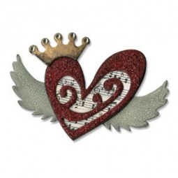 фото Форма для вырубки Sizzix Bigz Die Сердечко и крылья
