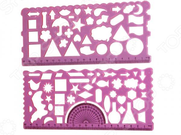 Товар продается в ассортименте. Цвет изделия при комплектации заказа зависит от наличия цветового ассортимента товара на складе. Набор линеек-трафаретов Miraculous МС-2173 - набор оригинальных линеек длиной 20 см. На каждой линейке находятся формочки, которые можно использовать как трафарет, обводя внутренний контур, изображенной детали на линейке, на бумаге. Такая многофункциональная пластиковая линейка привлечет каждого ребенка и позволит ему вносить какие-то особенные детали в свои работы. Каждая линейка имеет свой вид трафаретов в виде букв, цифр и фигурок. В наборе 2 линейки одного цвета. Набор будет прекрасным дополнением к канцелярскому предметам вашего ребенка.
