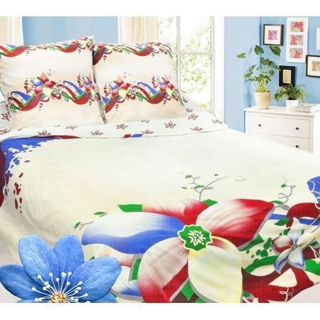 Купить Комплект постельного белья Сова и Жаворонок «Жасмин». Евро. Тип ткани: бязь-премиум