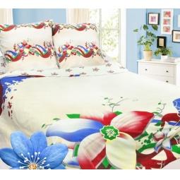 фото Комплект постельного белья Сова и Жаворонок «Жасмин». Евро. Тип ткани: бязь-премиум