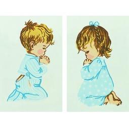 фото Канва с нанесенным рисунком Collection D'Art «Молитва на ночь»