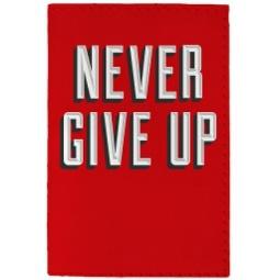фото Обложка для паспорта Mitya Veselkov Never give up на красном фоне