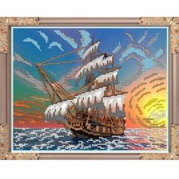 Купить Набор для вышивания бисером Светлица «На черном море»