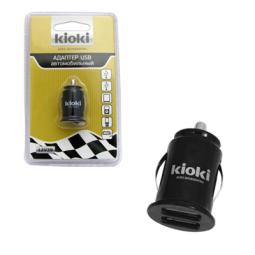 фото Адаптер USB автомобильный на 2 гнезда Kioki 12V39