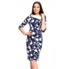 Фото Платье Mondigo 5084-1. Цвет: темно-синий. Размер одежды: 46