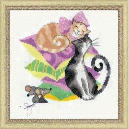 фото Набор для вышивания крестиком Сотвори Сама «Кошки-мышки»