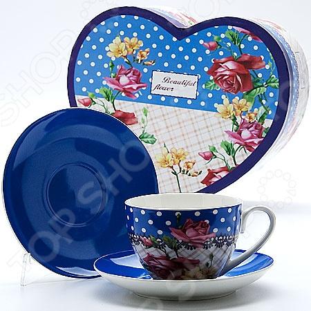Чайный набор Mayer&amp;amp;Boch MB-22997 «Букет»Чайные и кофейные сервизы и наборы<br>Сервировка это важный элемент при подаче любого блюда, пусть то будет изысканное жаркое или простой чай с любимым лакомством. Качественная и красивая посуда позволит не только в полной мере насладиться напитком, но и получить эстетическое удовольствие от самого чаепития. Яркий и красивый чайный набор Mayer Boch MB-22997 Букет рассчитан на 2 персоны, поэтому он будет уместно смотреться, как на романтических встречах за чашечкой чая или кофе, так и на дружеских посиделках. Аккуратные чашечки и блюдца выполнены из высококачественного костяного фарфора. Однако несмотря на свою внешнюю хрупкость, они отличаются прочностью и практичностью. Яркий и красочный дизайн является дополнительным преимуществом набора, которое оценят даже самые взыскательные ценители стиля и красоты. Чайный набор Mayer Boch MB-22997 Букет станет идеальным и незаменимым подарком, который по достоинству оценят ваши друзья и близкие! Набор упакован в подарочную коробку в виде сердце, внутренняя часть которой задрапирована белым атласом.<br>