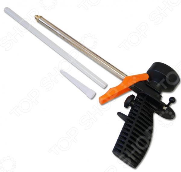 Пистолет для монтажной пены SANTOOL 010508Пистолеты для герметика и пены<br>Пистолет для монтажной пены SANTOOL 010508 облегченный инструмент для проведения строительных работ. Предназначен для изоляции и герметизации с помощью монтажной пены. Пистолет имеет игольчатый клапан, позволяет точно и удобно наносить строительный материал на обрабатываемую поверхность. Эргономичная ручка позволит удобнее удерживать инструмент. Подача пены регулируется винтом.<br>